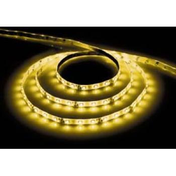 Лента светодиодная, 60SMD(5050)/m 14.4W/m 12V 5m желтый на белом основании, LS607