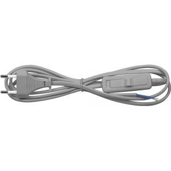 Сетевой шнур с выключателем, 230V 1.9м серый, KF-HK-1
