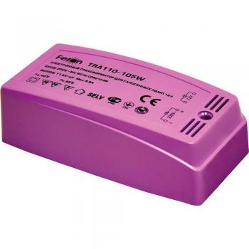 Трансформатор электронный понижающий, 230V/12V 105W пластик розовый, TRA110