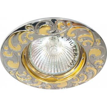 Светильник потолочный, MR16 G5.3 хром-золото, DL2005