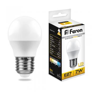 Лампа светодиодная, (7W) 230V E27 2700K, LB-95