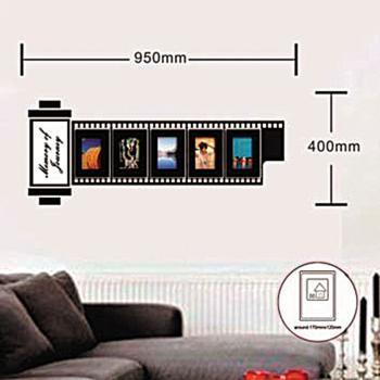 Наклейка на стену для 5 фоторамок, NL83