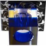 Светильник потолочный, JCD G9 с прозрачным-синим стеклом, черный-белый, с лампой, CD88