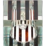 Светильник потолочный, JCD9 35W с прозрачным- коричневым стеклом, хром, с
