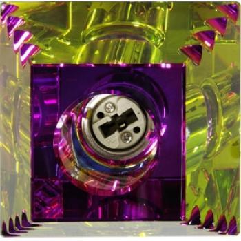 Светильник потолочный, JCD G9 с многоцветным стеклом, золото, JD138-MC