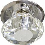 Светильник потолочный, JC G4 с прозрачным стеклом, хром, с лампой, JD83S-CL