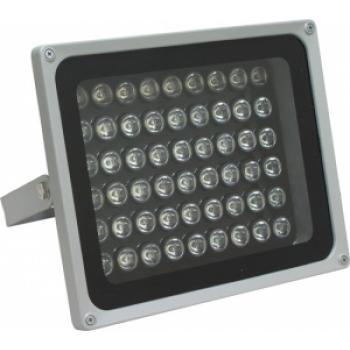 Прожектор квадратный, 54LED/1W-6500K 230V серый (IP65), LL-144
