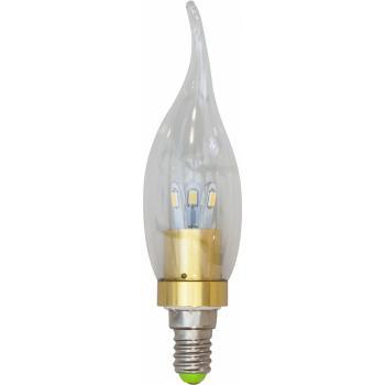 Лампа светодиодная, 6LED(3.5W) 230V E14 6400K золото, LB-71
