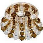 Светильник потолочный, JCD9 G9 с прозрачным и коричневым стеклом, золото, с лампой, CD2120