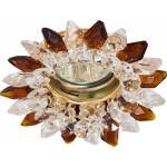 Светильник потолочный, MR16 G5.3 с прозрачным-коричневым стеклом, золото, с лампой, CD2315