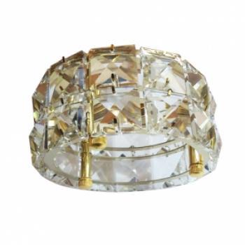 Светильник потолочный, MR16 50W G5,3, прозрачный, золото, CD4527