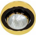 Светильник потолочный, MR16 G5.3 черный-золото, 108Т-MR16