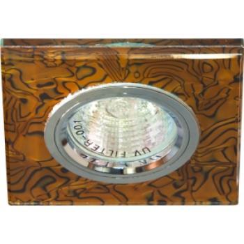 Светильник потолочный, MR16 G5.3 коричневый -черный,серебро, 8144-2