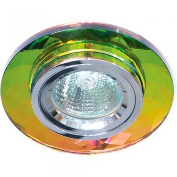 Светильник потолочный, MR16 G5.3 5 мультиколор + серебро, 8050-2