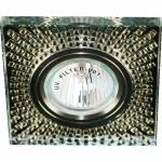 Светильник потолочный MR16 MAX50W 12V G5.3, прозрачный,серебро 8998-2