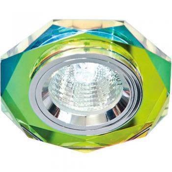 Светильник потолочный, MR16 G5.3 мерцающее серебро, серебро, 8020-2
