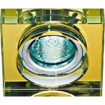 Светильник потолочный, MR16 50W G5.3 желтый, серебро,8180-2