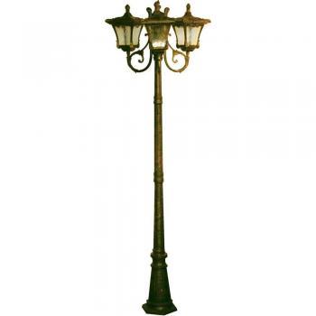 Светильник садово-парковый, 3*100W 230V E27 черное золото, 70033M