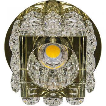 Светильник встраиваемый со светодиодной RGB подсветкой 2.5W JCD9 35W 220V.50HZ G9 , прозрачный, прозрачный, JD58