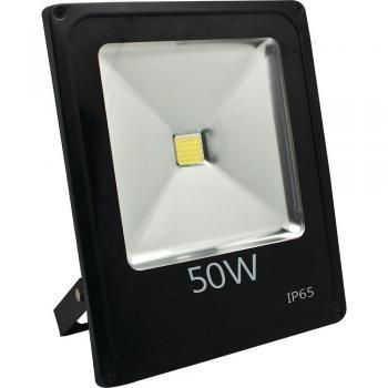 Прожектор светодиодный 1COB LED 50W 4000LM 6400K AC220V/50Hz, 285*235*57mm IP65, с кабелем длиной 30см, черный, LL-839