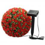 """Светильник садово-парковый на солнечной батарее """"Цветочный шар"""", фиолетовый, 20 LED (белый), D 28 см , E5209, арт.06265"""