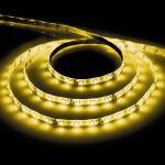 Лента светодиодная, 60SMD(3528)/m 4.8W/m 12V 5m желтый, на белом основании, LS603