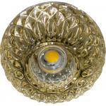 Светильник потолочный 10W 220V/50Hz 600Lm 3000K прозрчаный, золото, JD187