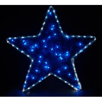 Световая фигура подвесная 230V4м LED белый синий, 24 LED/1м, 4.8W, 20mA, IP 44, шнур 1,5м х 1мм, LT015