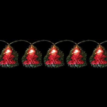 Гирлянда, 10 LED, цвет свечения: теплый белый, 10 подвесов, расстояние м/у LED: 10 см, размер подвеса: 8*2.5*10см, батарейки 3*AA, IP20, CL122