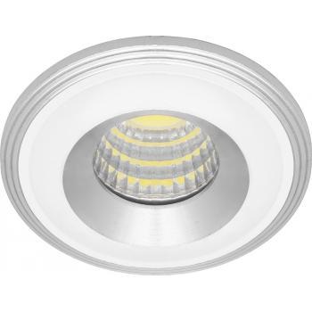 Светодиодный светильник встраиваемый со светодиодами LN003, 3W, 210 Lm, 4000К, белый, хром