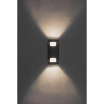 Накладной светодиодный уличный светильник ЛЮКС, 6W 3000K AC230V 90x57x166мм IP65,SP4120 , артикул 32056