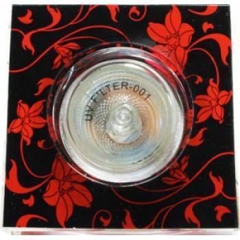 Светильник потолочный, JCDR G5.3 черный фон - красный рисунок, с лампой, CD2036/ CD6036