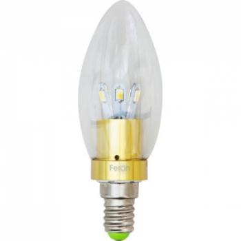 Лампа светодиодная, 6LED(3.5W) 230V E14 2700K хром, LB-70