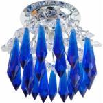 Светильник потолочный, JC G5.3 с синим стеклом, хром с лампой, CD2325