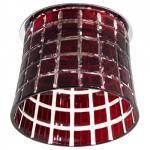 Светильник потолочный, JCD9 35W G9 с черным стеклом, хром с лампой, CD2321