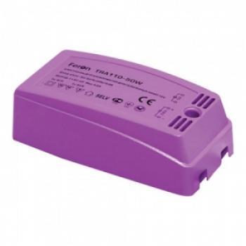 Трансформатор электронный понижающий, 230V/12V 200W пластик розовый, TRA110