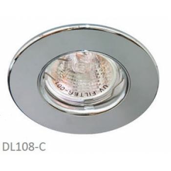 Светильник потолочный MR16 MAX50W 12V G5.3, хром, хром,DL108-C