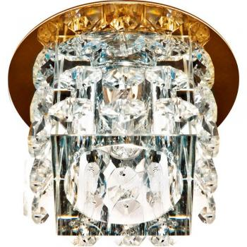 Светильник потолочный, JCD9 35W с прозрачным стеклом, золото, JD58