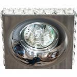Светильник потолочный MR16 MAX50W 12V G5.3, прозрачный, хром, DL202-C