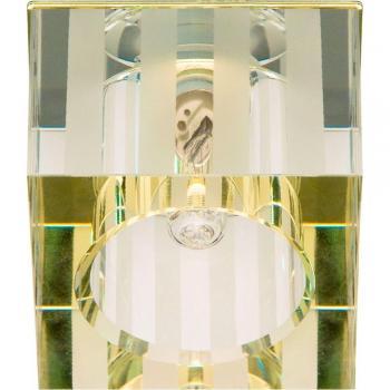 Светильник потолочный,JCD9 35W с прозрачным- матовым стеклом, хром, DL-174