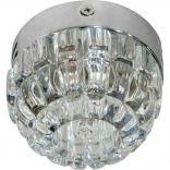 Светильник накладной JCD9 35W G9 прозрачный,хром, JD87S