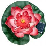 """Светильник садово-парковый на воду на солнечной батарее """"Кувшинка"""" желтый, 1 RGB LED, 170*170*60мм, PL263"""