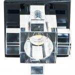 Светильник потолочный JCD9 35W G9 cо встроенными светодиодами RGB 2,5W прозрачный, черный,1525