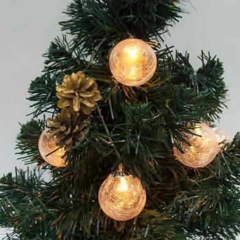 Гирлянда 6LED, цвет свечения:теплый белый, расстояние м/у подвесами: 15 см, диаметр шара: 5см, длина: 0.7 м, батарейки 3*АА, IP20, CL111