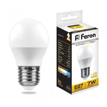 Лампа светодиодная, (7W) 230V E27 6400K, LB-95