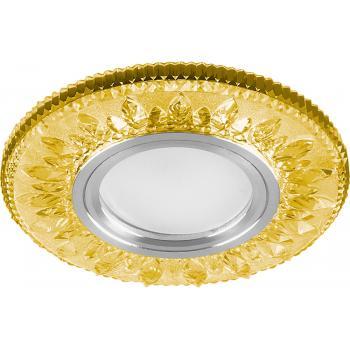 Светильник встраиваемый с белой LED подсветкой Feron CD903 потолочный MR16 G5.3 желтый