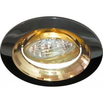 Светильник потолочный, MR16 G5.3 черный металлик-золото, DL2009