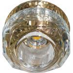 Светильник потолочный 10W 220V/50Hz 600Lm 3000K прозрачный, золото, JD190