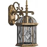 Светильник садово-парковый, 60W 230V E27 черное золото, PL131
