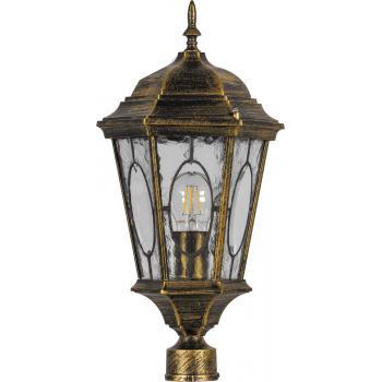 Светильник садово-парковый, 60W 230V E27 черное золото, PL152